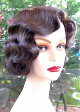 Finger Wave Fingerwave Wig Rose. CHESTNUT BROWN .. Downton Abbey! Best Seller