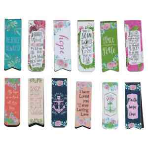 12 PC Jot Christian Inspired Magnetic Bookmarks 2 inch Long Free Ship New