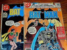 Bat Man Lot of two 1980 DC Comics #329 & #330