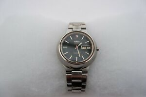 OMEGA SEAMASTER f300Hz CONE S/STEEL CHRONOMETER DAY/DATE, BLACK DIAL - C1970'S,