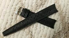 Stylecraft 11319 vintage Black Rubber curve 19mm Swiss TYPE Divers watch strap