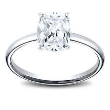 14K Gold 0.58 ct Cushion Cut Diamond Solitaire Engagement Ring F VVS2