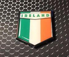 "Ireland Flag Domed CHROME Emblem Proud Irish Flag Car 3D Sticker 2x 2.25"""