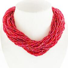 """LUSCIOUS 50!! STRANDS 19"""" IRIDESCENT RED BEADS necklace"""