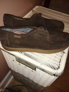 Hush Puppies Suede Brown Moccasin size 12 NWOB