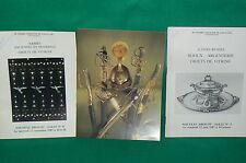 Lot 3 catalogues vente aux enchères armes icônes russes bijoux DROUOT années 80