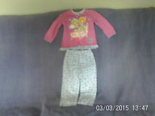 Girls 2-3 Years - Pink & Blue Long Pyjamas - Fifi & the Flowertots