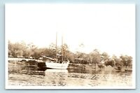 Valparaiso, FL - c1950s VIEW OF SNAPPER FISHING BOAT & OLD CARS - RPPC - A5