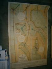 Vintage Admiralty Chart 233 THE SUEZ CANAL 1922 edn