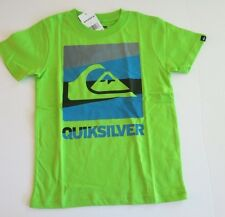 NWT Quiksilver Toddler Boys 4T Short Sleeve Repel Tee T-Shirt Lime Green Cotton