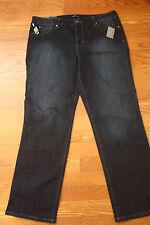 NWT Womens BANDOLINOBLU Samantha Straight Leg Comfort Ease Blue Jeans Size 10