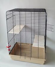 Large Chinchilla Degu Cage Rodents Rat Two Wooden Platform 250ml Water Bottle