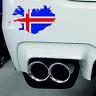 Sticker car map flag vinyl Laptop wall decal macbook Iceland Icelandic