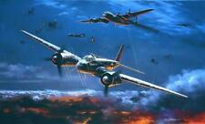 Nic Trudgian Luftwaffe print Moonlight Hunter signed by Ace night-fighter pilot