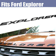 Black Graphite Hood Emblem Letters For 2011-2018 Ford Explorer Sport Decals