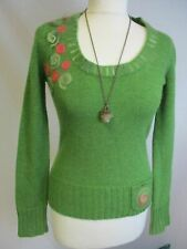 Boho Hippie Nomadic Nomad 80% Lambs Wool Quirky Artsy Jumper UK 6 8 Festival