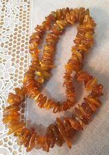 Vintage Unpolished Baltic Amber Necklace 53.4 Grams.