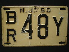 1950 New Jersey License Plate  BR 48Y