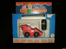 1987 VINTAGE FISHER PRICE PLAY FAMILY RACE CAR FORMULA LITTLE PEOPLE MIB