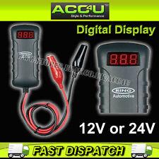 Anillo rba4 Dual 12v 24v Voltímetro Digital coche Probador De Baterías Con Cocodrilo Clips