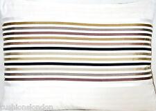 Stripes Cushion Cover Silk Throw Pillow Case Lorca Woven Fabric Goa Rectangular
