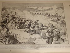 1898 Zeichnung ROOSEVELT'S Rough Riders Kuba Invasion