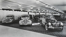 "1939 Ford Showroom with station wagon 12 x 18"" Black & White Picture"
