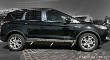 Stainless Steel Chrome Rocker Panel Accent Fits 13-Up Ford Escape2.5''-4'' 6Pc