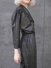 BHATTI Paris OVERALL 90er shiny Einteiler Reptil schwarz TRUE VINTAGE jumpsuit