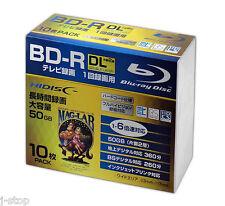 10 Hi-Disc BD-R DL 50GB 4x Speed Bluray Inkjet Printable No Logo Pro Version tdk