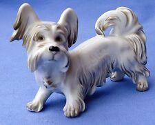 "Skye Silky Papillon Terrier Augarten Austria Wien 4"" Dog"
