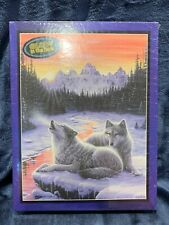 """Bits & Pieces 550 Piece Glow in the Dark Puzzle """"WINTER'S DAWN"""" NEW Sealed"""