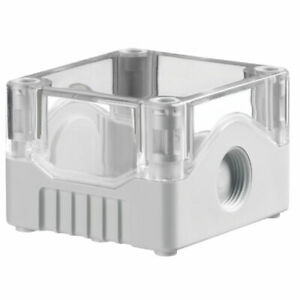IP67 SEALED ABS JUNCTION BOX CLEAR/GREY PSB1TG UL93-HB 73x80x53mm