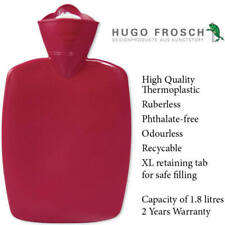 Hugo Frosch Classic Comfort Hot Water Bottle Red 1.8 L