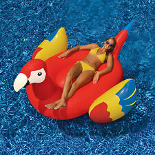"Swimline 93""L Giant Parrot Inflatable Animal Bird Ride On Swimming Pool Float"