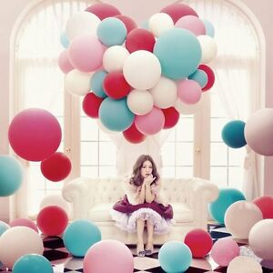 1-100pc 36inch 15 colors Huge Latex Thick XL Floating Balloons Party Helium US