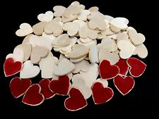 """Wood Unfinished  Hearts  1 1/4""""  88 Pieces"""