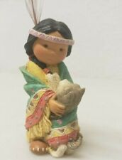 """Enesco 1994 - Friends Of The Feather Figurine """"Dances With Wolf"""" # 115657"""