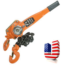 USA 3 Ton Lever Cranes Block Heavy Hoist Lift Ratchet Chain Come Along 3000 LBS