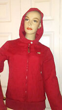 NWT Fox Racing Red Hot Logger Quilted Jacket hood size XS $82 NEW girls womens