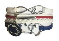 Penn State Nittany Lions College Infinity Hearts Bracelet Jewelry Apparel