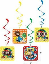 m & m  happy birthday party decoration supplies dangler