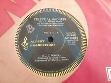 "S. J. C. POWELL  A RADIO PROMO CELESTIAL MADNESS 45 7"" ALBERT PRODUCTIONS 1975"