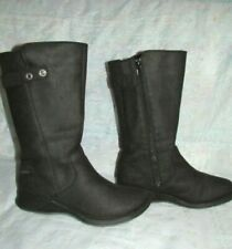 Women's MERRELL Black Leather Boots Size 8.5 M