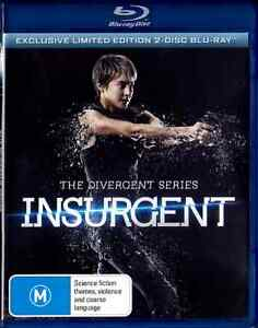 The Divergent Series INSURGENT LTD New Blu-Ray SHAILENE WOODLEY THEO JAMES ***