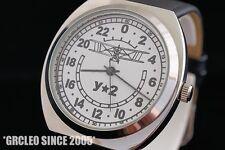 Rocket military type very rare Russian vintage 24H mode wrist watch Airplaine U2