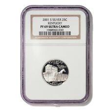 USA Kentucky State Quarter 2001 S Silver Proof NGC PF 69 Ultra Cameo