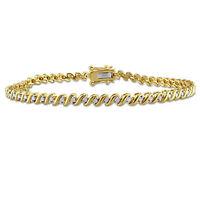 Silver 1/2ct TDW Diamond Twisted Tennis Bracelet (J-K, I2-I3)