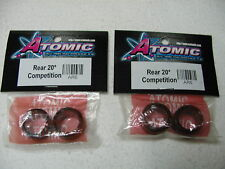 Atomic 1/28 RC - Kyosho Mini Z AR-6 - Set 4 Rear Compet tires shore 20 - New