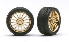 Pegasus 1208 x 1/24-1/25 Spider Gold Rims w/Tires (4)